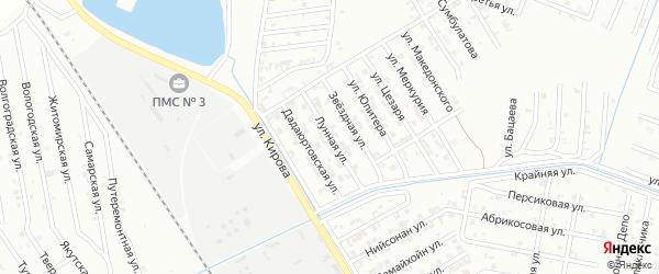 Лунная улица на карте Гудермеса с номерами домов