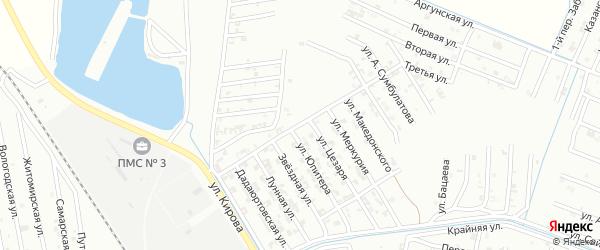 Брагунский переулок на карте Гудермеса с номерами домов
