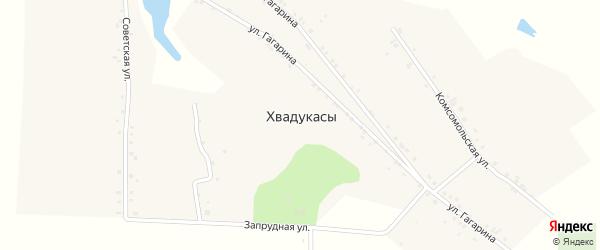 Советская улица на карте деревни Хвадукасы с номерами домов