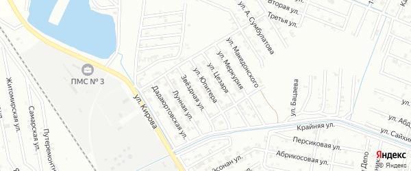 Улица Юпитера на карте Гудермеса с номерами домов