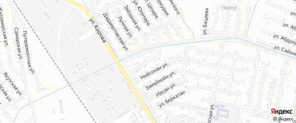 Брагунская улица на карте Гудермеса с номерами домов
