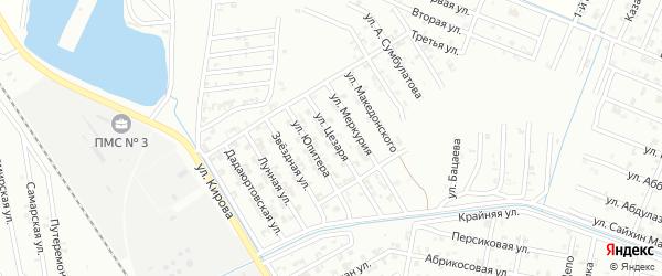 Улица Цезаря на карте Гудермеса с номерами домов