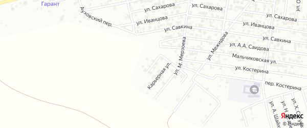 Карьерный переулок на карте Гудермеса с номерами домов