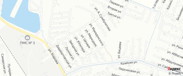 Улица Меркурия на карте Гудермеса с номерами домов