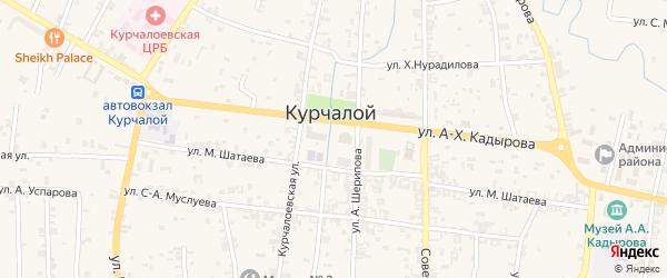 Улица Новая 4 на карте села Курчалой с номерами домов