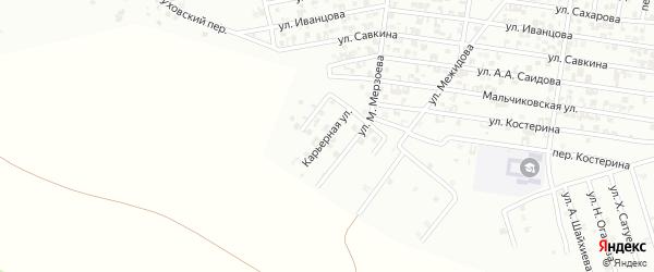 Карьерная улица на карте Гудермеса с номерами домов