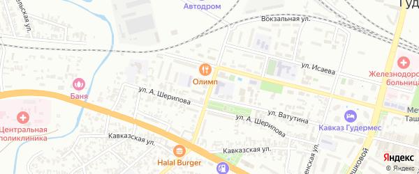 Школьная улица на карте села Илсхан-Юрт с номерами домов