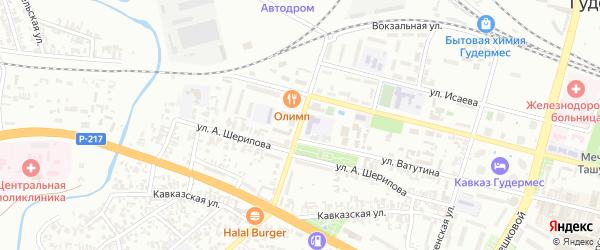 Школьная улица на карте села Нового Энгеной с номерами домов