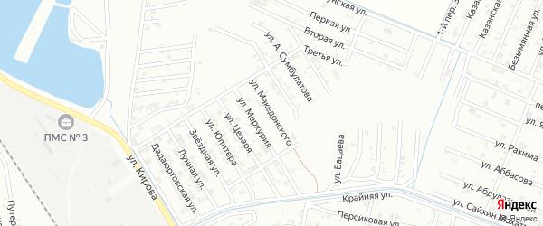 Улица Македонского на карте Гудермеса с номерами домов