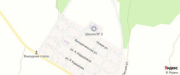 Новая улица на карте села Илсхан-Юрт с номерами домов