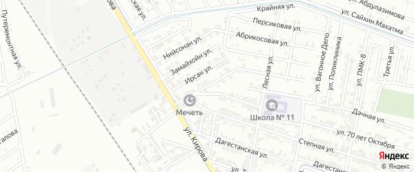 Улица Беркатан урам на карте Гудермеса с номерами домов