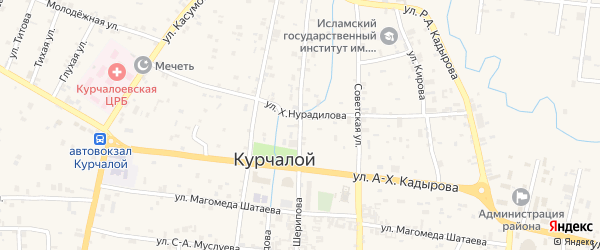 Улица А.Шерипова на карте села Курчалой с номерами домов