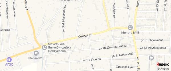 Южная улица на карте села Курчалой с номерами домов