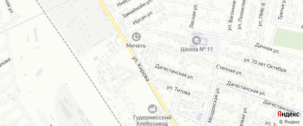 Сунженская улица на карте Гудермеса с номерами домов