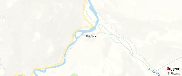 Карта села Халих в Дагестане с улицами и номерами домов