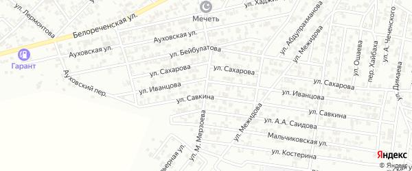 Улица М.Мерзоева на карте Гудермеса с номерами домов