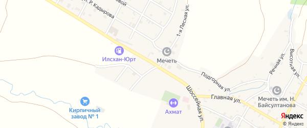 Шоссейная улица на карте села Верхний-Нойбер с номерами домов