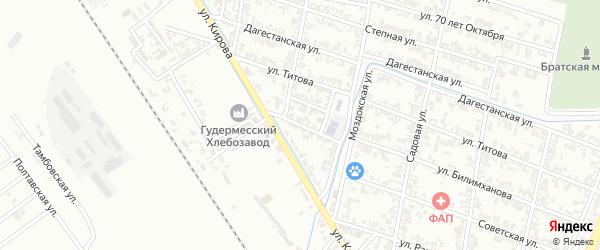 Улица Захарова на карте Гудермеса с номерами домов