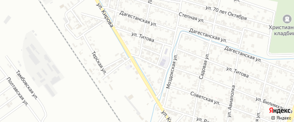 Улица Захарова на карте села Хангиш-юрт с номерами домов