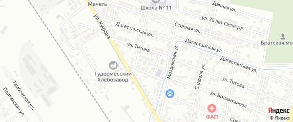 Молодежная улица на карте Гудермеса с номерами домов