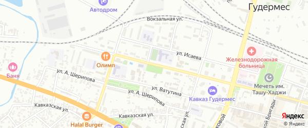 Проспект А.Кадырова на карте Гудермеса с номерами домов