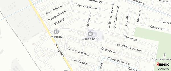 Лесная улица на карте Гудермеса с номерами домов