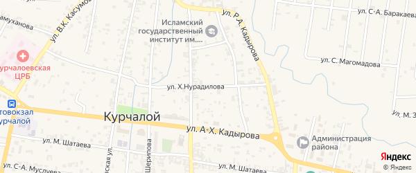 Улица Х.Нурадилова на карте села Курчалой с номерами домов