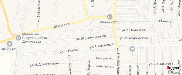 Улица Я.Дохтукаева на карте села Курчалой с номерами домов