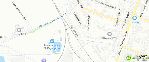 Терская улица на карте Гудермеса с номерами домов