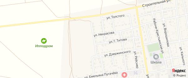 Улица Маяковского на карте села Черного Яра с номерами домов