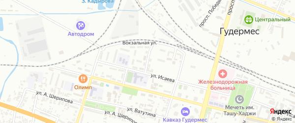 Улица Толстого на карте Гудермеса с номерами домов
