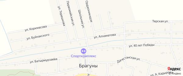 Улица Алхаматова на карте села Брагунов с номерами домов