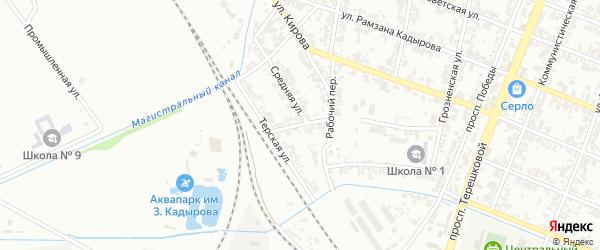 Улица Шевченко на карте Гудермеса с номерами домов
