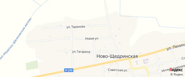 Новая улица на карте Ново-Щедринская станицы с номерами домов