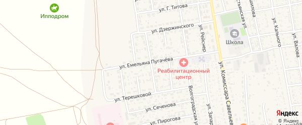 Улица Адоратского на карте села Черного Яра с номерами домов