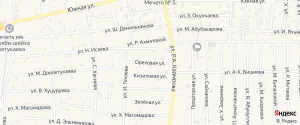Ореховая улица на карте села Курчалой с номерами домов
