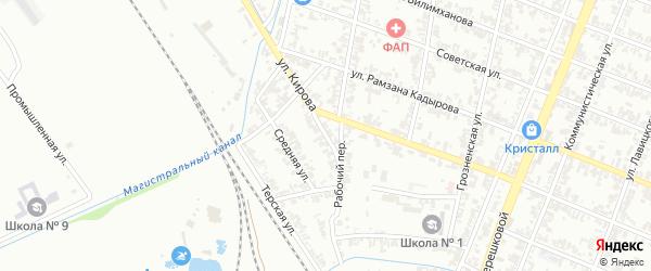 Боевая улица на карте Гудермеса с номерами домов
