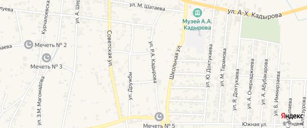 Улица Мира на карте села Курчалой с номерами домов