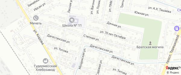 Степная улица на карте села Нижний-Нойбер с номерами домов