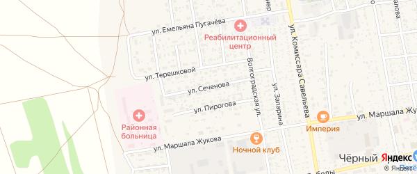 Улица Сеченова на карте села Черного Яра с номерами домов