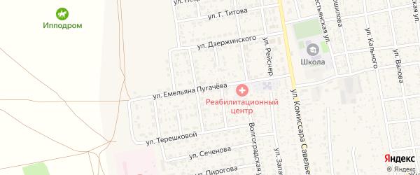 Улица Е.Пугачева на карте села Черного Яра с номерами домов