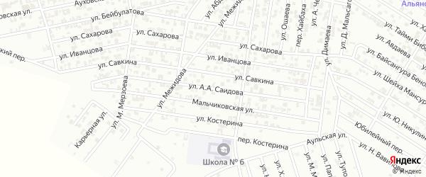 Улица Висаитова на карте Гудермеса с номерами домов