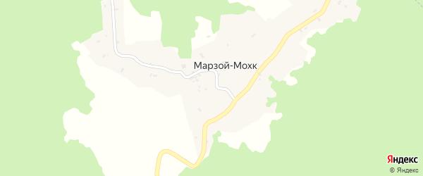 Улица Мовсур Кишиева на карте села Марзой-Мохк с номерами домов