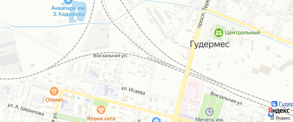 Вокзальная улица на карте Гудермеса с номерами домов