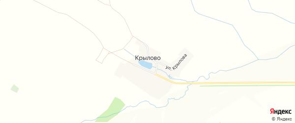 Карта деревни Крылово в Чувашии с улицами и номерами домов