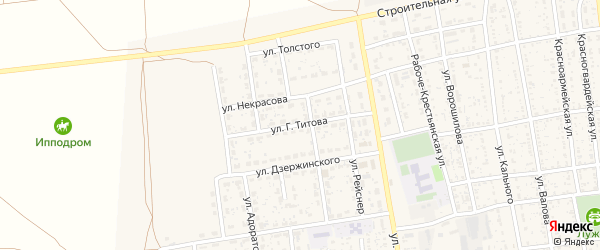 Улица Титова на карте села Черного Яра с номерами домов