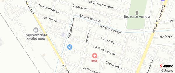 Садовая улица на карте Гудермеса с номерами домов
