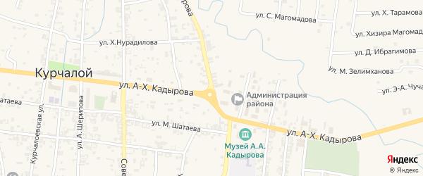 Переулок Р.А.Кадырова на карте села Цоци-Юрт с номерами домов
