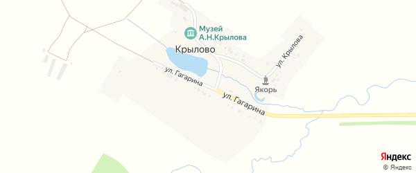 Улица Гагарина на карте деревни Крылово с номерами домов