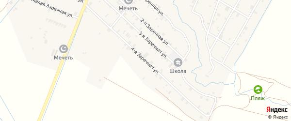 Заречная 4-я улица на карте села Илсхан-Юрт с номерами домов